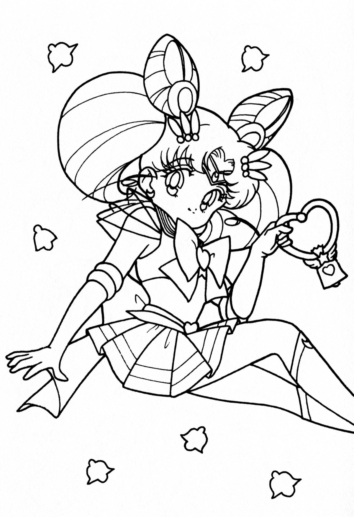 chibi moon coloring pages - photo#3